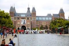 AMSTERDAM, DIE NIEDERLANDE - 18. AUGUST 2015: Ansicht über Rijksmuseum Stockfoto