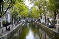 AMSTERDAM; DIE NIEDERLANDE - 18. AUGUST; 2015: Ansicht über schönes Lizenzfreies Stockbild