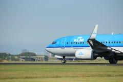 Amsterdam, die Niederlande - August, 18. 2016: PH-BGE KLM Boeing 737 Stockfotos