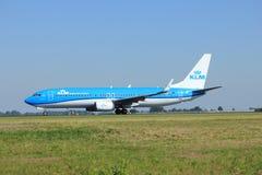 Amsterdam, die Niederlande - August, 18. 2016: PH-BXZ KLM Boeing 737 Stockfotografie