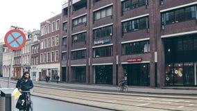 AMSTERDAM, DIE NIEDERLANDE - 26. DEZEMBER 2017 anmeldung COM-Büroeingang Stockfoto