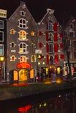 Amsterdam, die Niederlande - 14. Dezember 2017: Die Gebäude von Amsterdam-Stadt Stockfoto