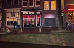 Amsterdam, die Niederlande - 14. Dezember 2017: Die Gebäude von Amsterdam-Stadt Lizenzfreies Stockbild