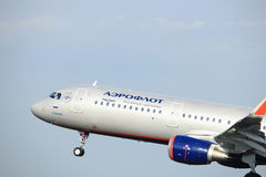 Amsterdam die Niederlande - 6. Juli 2017: VP-BFK Aeroflot - russische Fluglinien Airbus A321 Stockbild