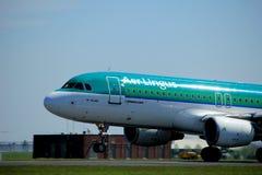 Amsterdam die Niederlande - 4. Mai 2018: EI-CVC Aer Lingus Airbus Lizenzfreie Stockfotografie