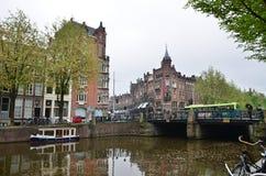 Amsterdam, die Niederlande - 16. Mai 2015: Leute an Westermarkt-Bezirk in Amsterdam Lizenzfreie Stockbilder