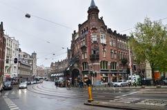 Amsterdam, die Niederlande - 16. Mai 2015: Leute an Westermarkt-Bezirk in Amsterdam Stockbild