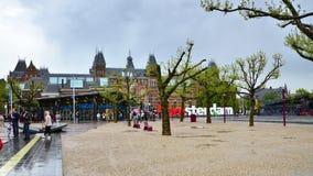 Amsterdam, die Niederlande - 6. Mai 2015: Touristen am berühmten Zeichen Lizenzfreie Stockfotografie