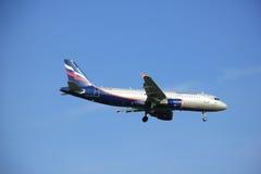 Amsterdam die Niederlande - 6. Mai 2016: VP-BQV Aeroflot - Russ Lizenzfreie Stockfotografie
