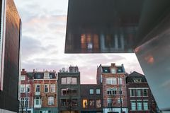 Amsterdam downtown museum quarter Museumplein modern buildings Stock Images
