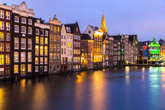 Amsterdam at dusk Stock Photography