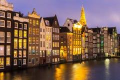 Amsterdam at dusk Royalty Free Stock Image