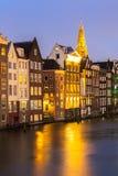 Amsterdam at dusk Stock Photo