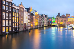 Amsterdam at dusk Royalty Free Stock Photography