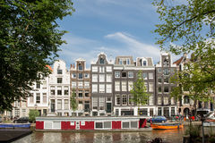 Amsterdam Dutch Houses Royalty Free Stock Images