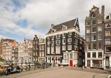 Amsterdam Dutch Houses Stock Photo