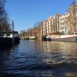 Amsterdam en Amstel stock foto's