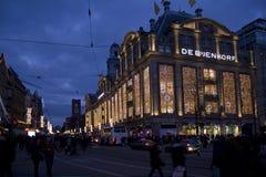 Amsterdam en la Navidad Foto de archivo libre de regalías