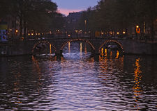 amsterdam evening view Royalty Free Stock Image