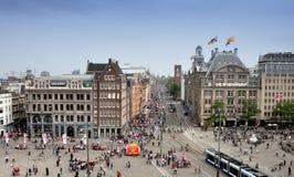 amsterdam fördämningfyrkant Fotografering för Bildbyråer