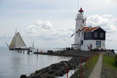 Holland, Amsterdam, the famous Marken Lighthouse royalty free stock image