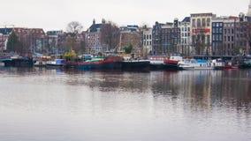 Amsterdam fartyg Arkivbild