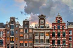 Amsterdam fasady Zdjęcia Royalty Free
