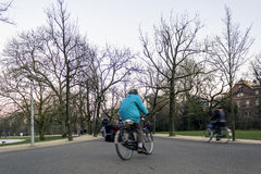 AMSTERDAM - FEBRUARY 06: people in Vondelpark, a public urban pa Royalty Free Stock Photography