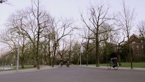 AMSTERDAM - FEBRUARY 6: people in Vondelpark stock video footage