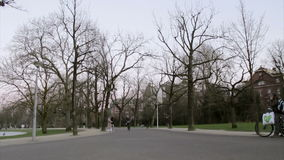 AMSTERDAM - FEBRUARY 6: people in Vondelpark stock footage