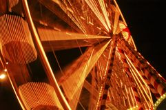Amsterdam Ferris Wheel. Amusement park at night,[blur effect stock images