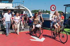 Amsterdam ferryboat Royalty Free Stock Images