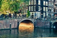 amsterdam flod Royaltyfria Foton