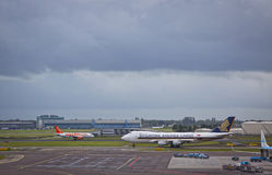 Amsterdam flygplats Schiphol Arkivbilder