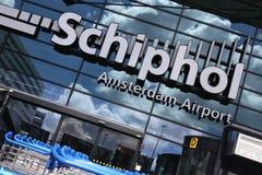 Amsterdam flygplats Schiphol Arkivfoto