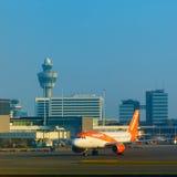 Amsterdam flygplats Schiphol i Nederländerna Royaltyfri Foto