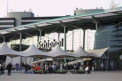 Amsterdam flygplats Schiphol ingång Nederländerna Arkivfoto