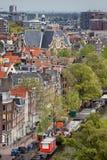 Amsterdam från över Royaltyfri Fotografi