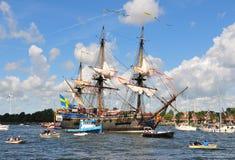 amsterdam G seglar sweden theborg fotografering för bildbyråer