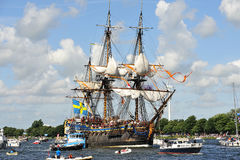 amsterdam G seglar sweden theborg Royaltyfria Bilder