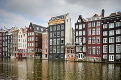 Amsterdam gammal fjärdedelarkitektur Royaltyfri Foto