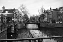 Amsterdam gator Royaltyfri Bild