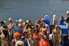 Amsterdam Gay Canal Parade 2013 Royalty Free Stock Photography