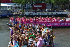 Amsterdam Gay Canal Parade 2013 Royalty Free Stock Photos