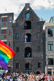 Amsterdam during the Gay Canal Parade Stock Photography