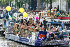 Amsterdam Gay Pride 2015 Stock Photography