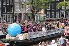 Amsterdam gay pride canal parade Royalty Free Stock Photos