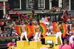 Amsterdam gay pride canal parade Royalty Free Stock Images