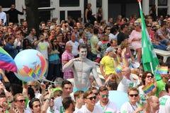 Amsterdam gay pride canal parade Stock Image
