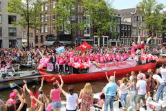 Amsterdam gay pride canal parade royalty free stock image